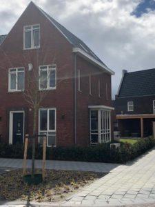 Nieuwbouw woning met warmtepomp en douche-wtw