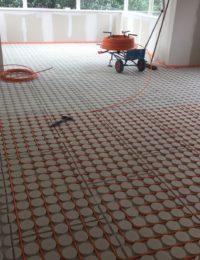 droogsysteem vloerverwarming boven
