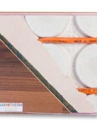 Droogbouw vloerverwarming Variokomp met houten vloer