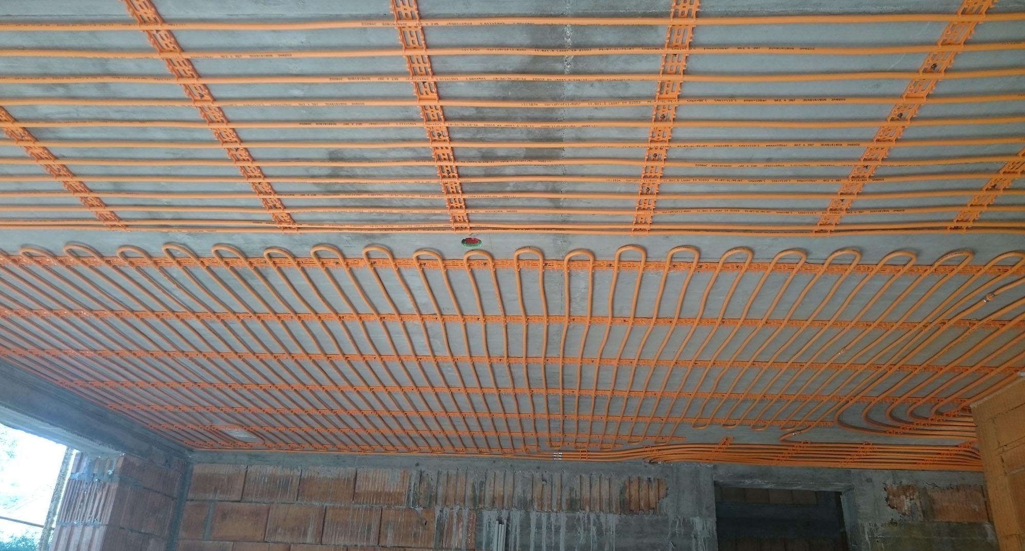 Klimaatplafond voor aan betonnen plafond