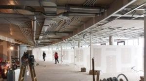 kantoorruimte met klimaatplafond