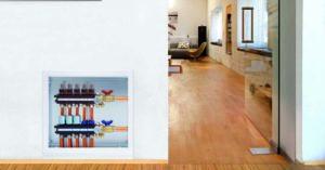 Vloerverwarming verdelerkast inbouw in de muur