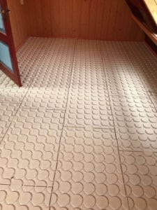 Dunne vloerverwarming variokomp op houten ondervloer