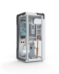 Doorsnede binnnekant AT-Tec aardwarmetpomp water water brine