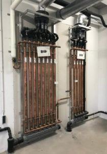 Energiebesparing bij een sportvereniging door warmteterugwinning uit warm douchewater met een douchekanon wtw
