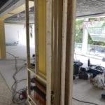 houten voorzetwand vloerverwarming verdeler variotherm
