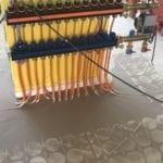 Variotherm vloerverwarming verdeler aangesloten op blokverwarming