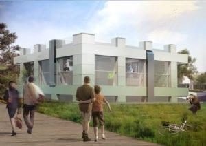 Prototype energieneutrale woning / kantoorpand van MOR team van TU Delft