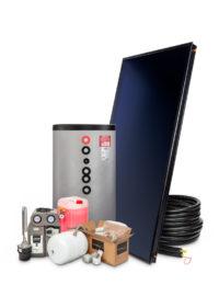 Zonneboilerset 200 liter met vlakke plaat zonnecollector