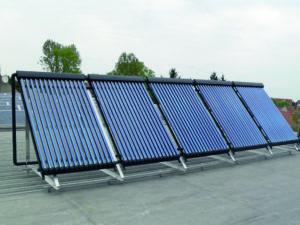 Thermic heatpipe zonnecollectoren plat dak