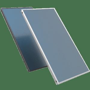 Zonthermic vlakglas zonnecollectoren zwart aluminium