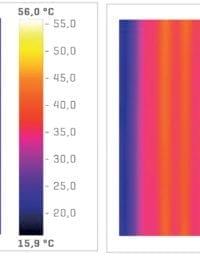 Thermic vlakglas zonnecollector warmteoverdracht infraroodbeelden