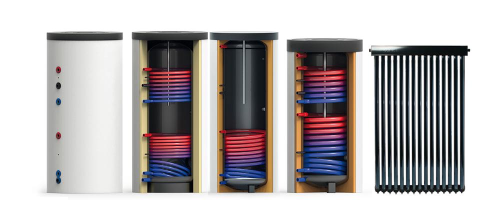 Zonneboiler set: Tapwaterboiler met heatpipe collector