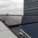 Zonnepanelen montageankers toegepast op muziekgebouw Amsterdam