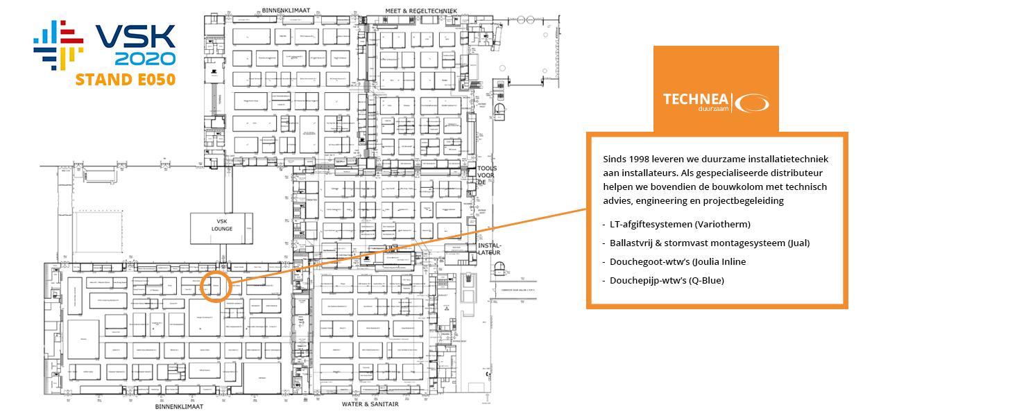 VSK 2020 plattegrond beurs duurzame installatietechniek TechneaDuurzaam