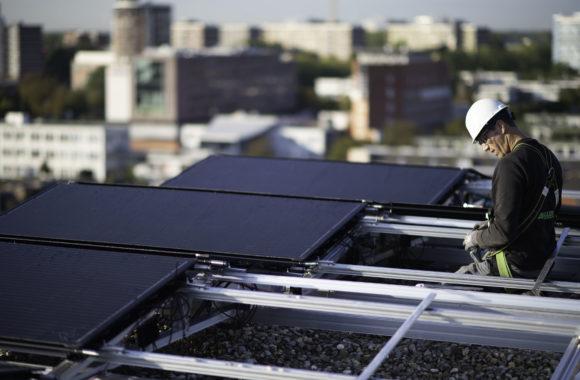 Triple Solar PVT_panelen - Project Antoni Delft - Montagesysteem